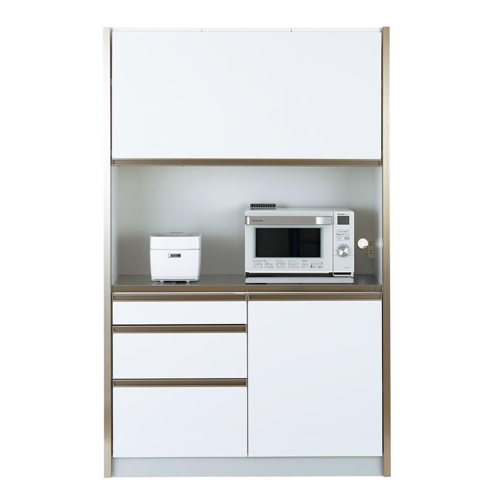 Maquina/マキナ ダストダイニングボード・キッチンボード 幅127cm ホワイト
