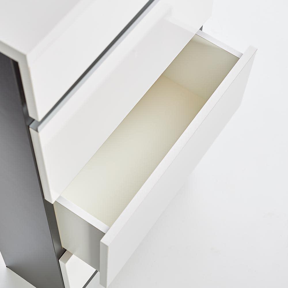 Peili/ペイリ カウンター下収納庫 引き出し幅44cm 奥行20cm 引出しの内部も化粧仕上げでお手入れ簡単