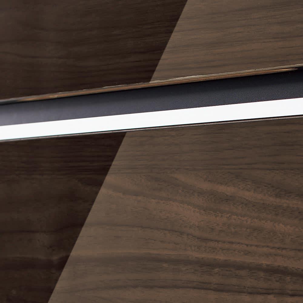 Peili/ペイリ カウンター下収納庫 引き出し幅44cm 奥行20cm (ア)ダークブラウンつややかで美しく機能的な廃グロス仕上げ。天板と前板は光沢を放つハイグロスシート張り。耐久性があり汚れも簡単に拭き取れます。