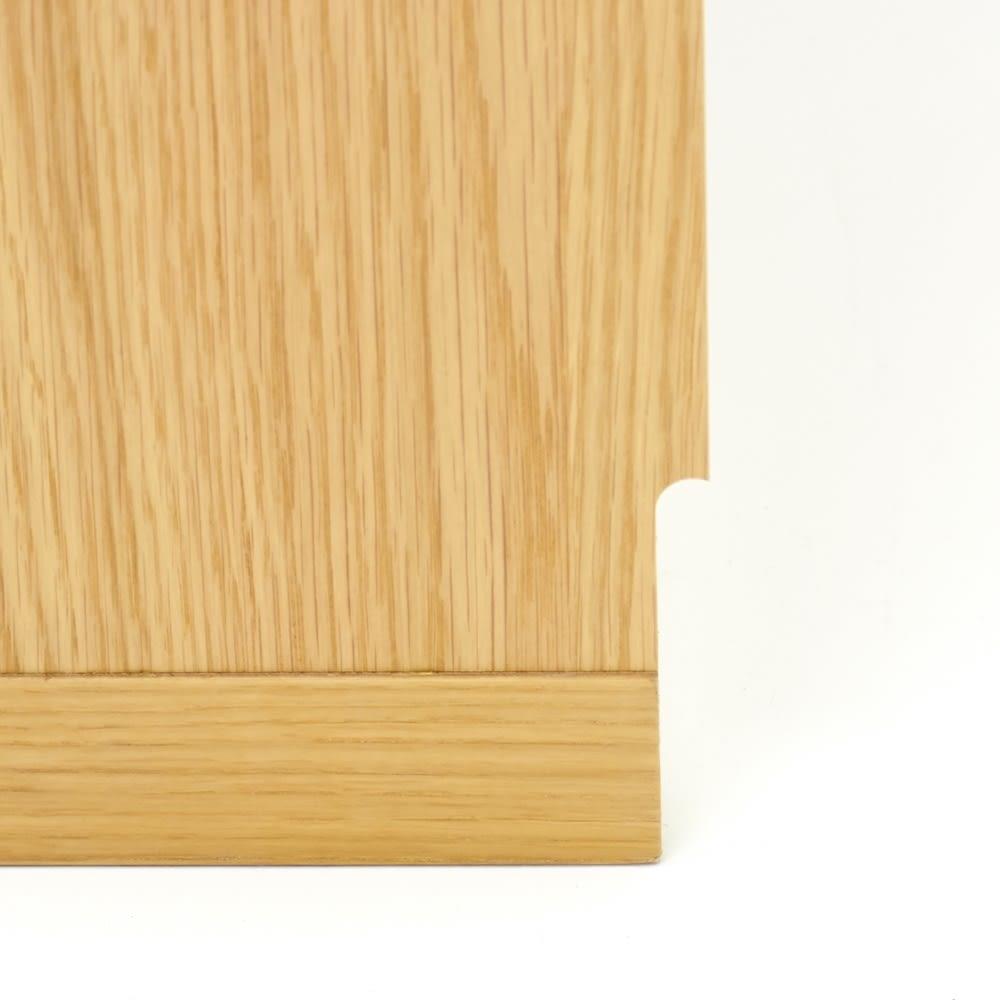 Ordre/オルドル 高さ1cm単位オーダー 薄型カウンター下収納庫チェスト [オーク/幅60cm 高さ60~95cm] 幅木カット付きを選択していただければ、壁際にぴったりと設置することも可能です。