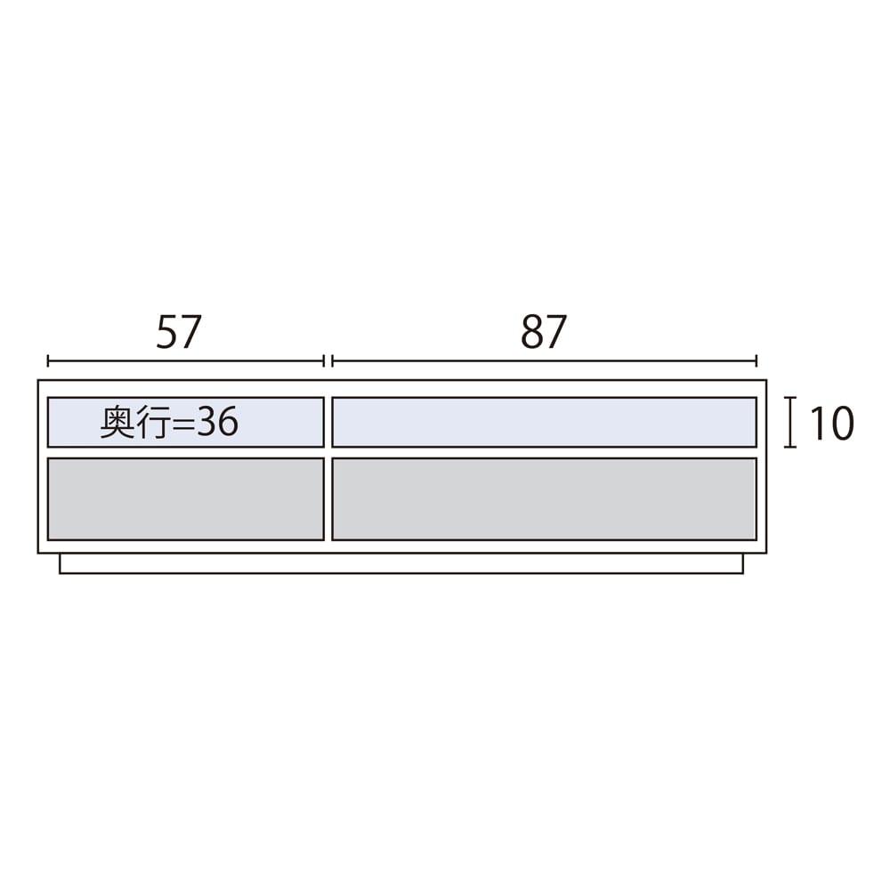 ウォルナット天然木テレビ台 幅150cm 内寸図(cm)