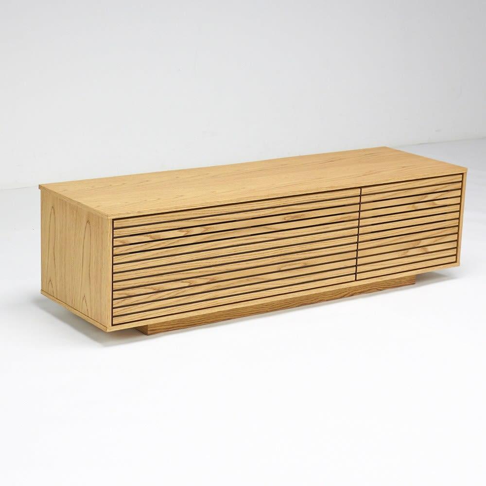 格子リビング収納 テレビボード 幅150.5cm