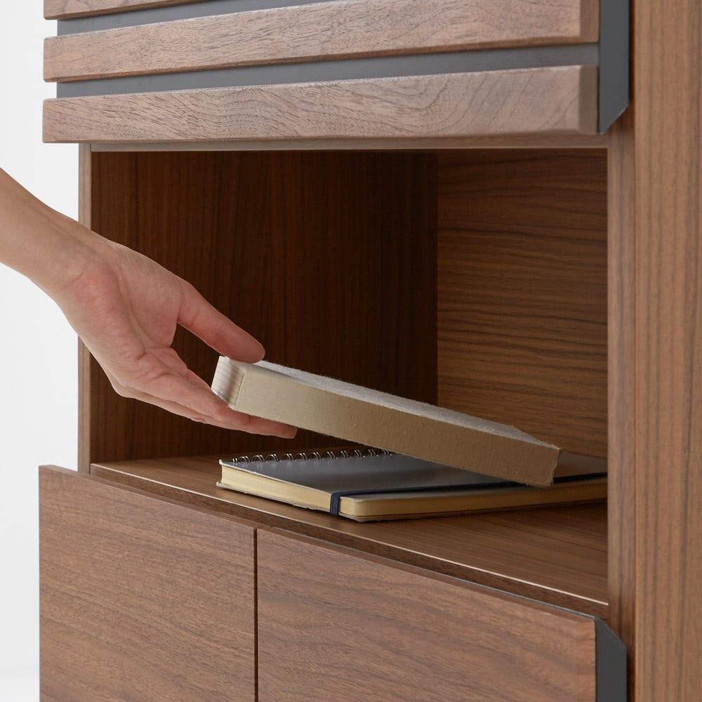 Remonte/ルモンテ 格子FAX台シリーズ FAX台 幅60cm オープン棚は読みかけの本のちょい置きとしても。