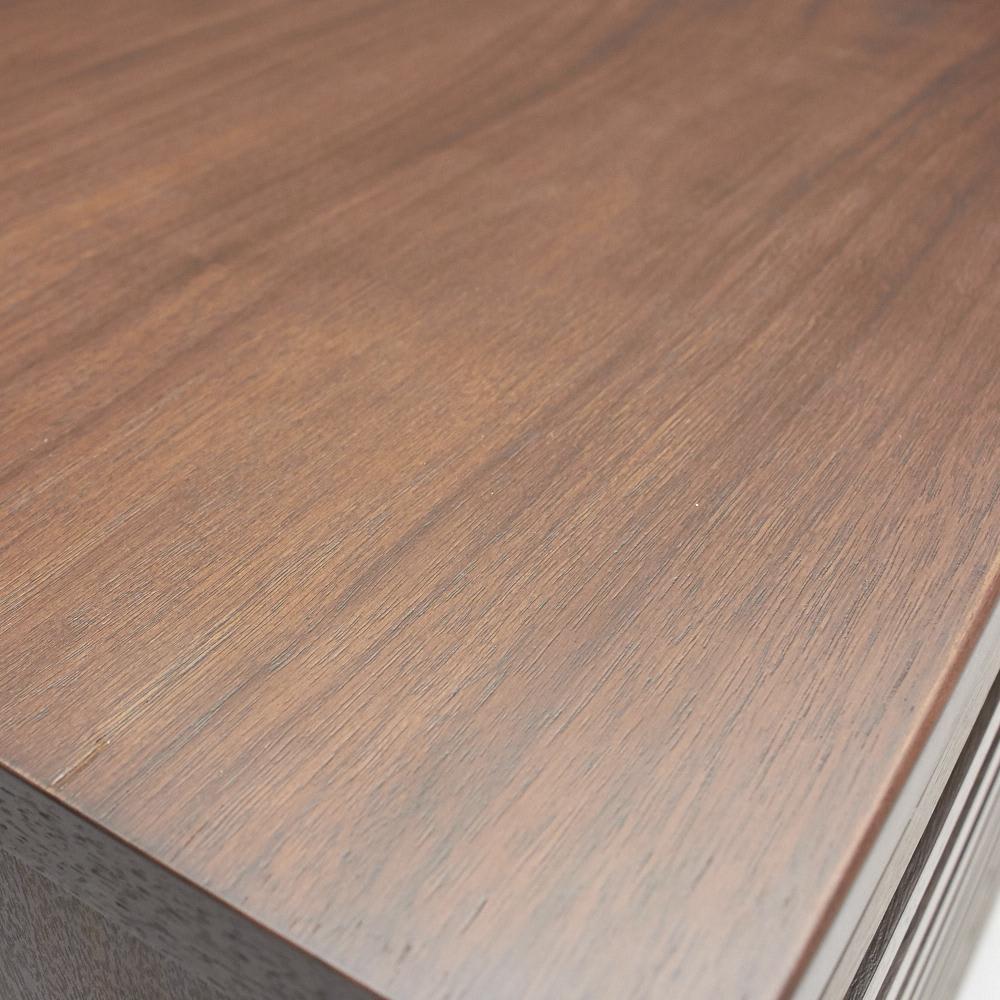 ウォルナット格子リビング収納シリーズ 扉タイプ 幅80cm 木目が美しいウォルナット仕上げ