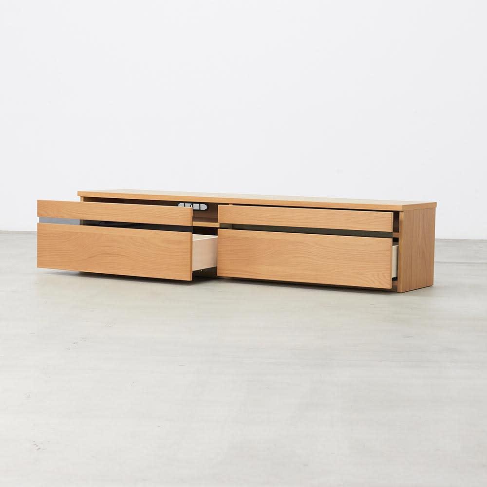 Carell/カレル リビングボードシリーズ 幅180 高さ40引き出しタイプ (イ)オーク オープン時