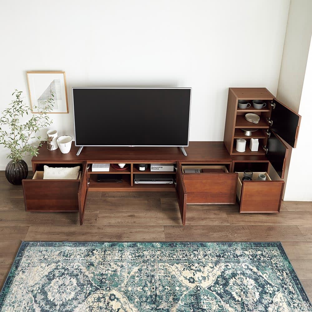 家具 収納 本棚 ラック シェルフ 棚 E&W/イーアンドダブリュ 天然木テレビボード キャビネット H88518