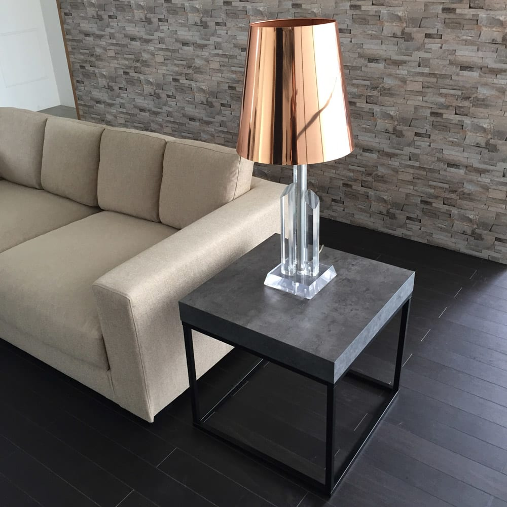 Petra(ペトラ) コンクリート調サイドテーブル ソファーのサイドテーブルとして