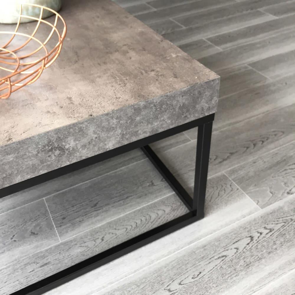 Petra(ペトラ) コンクリート調コーヒーテーブル コンクリート調の質感