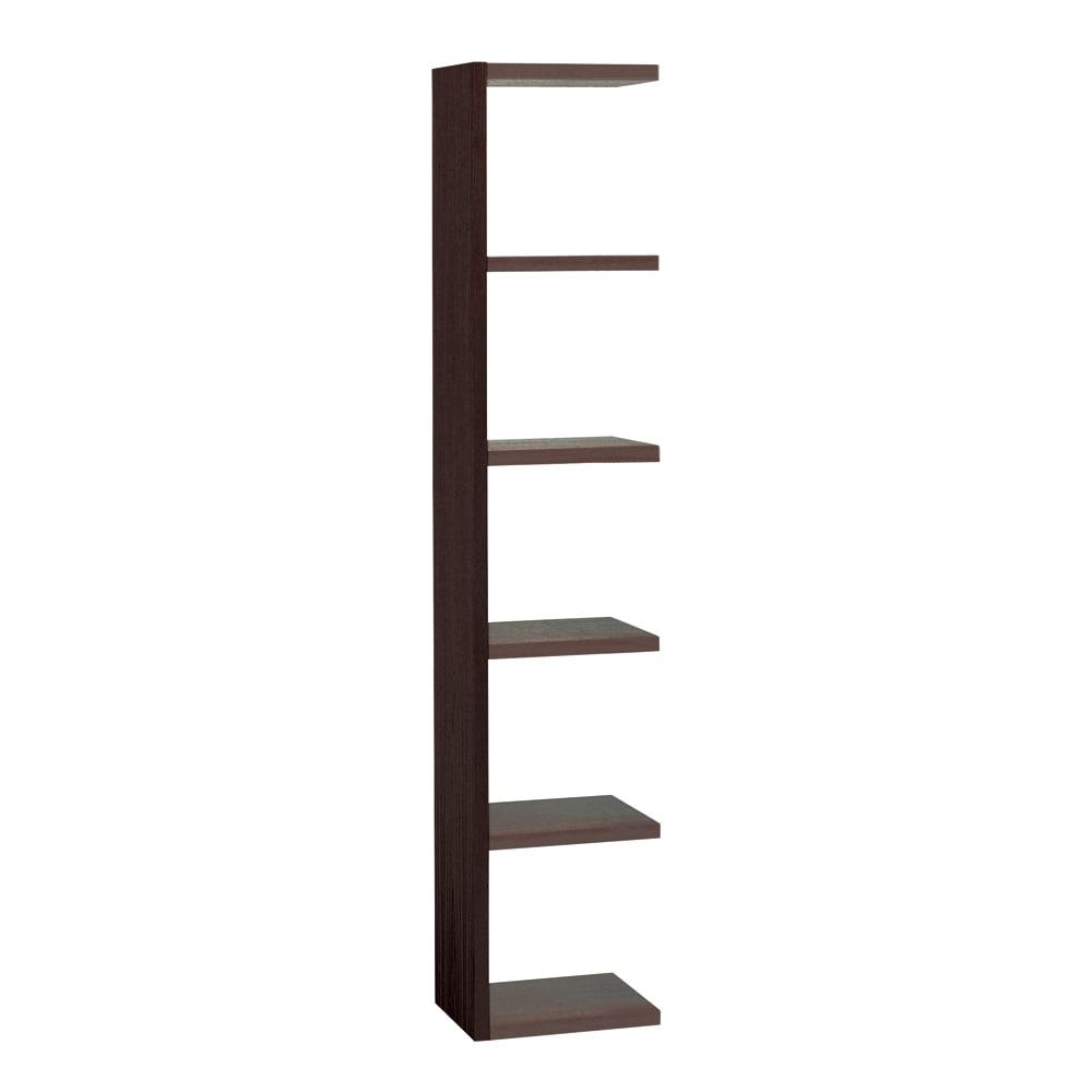 Pombal/ポンバル シェルフ 高さ187cm 連結用パーツ/追加用シェルフ1列 ダークブラウン