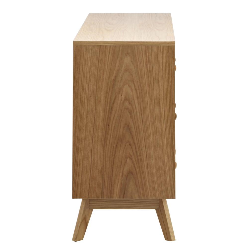オーク天然木 リビングボード サイドボード [WOODMAN・ウッドマン] 側面もオークの突き板貼り