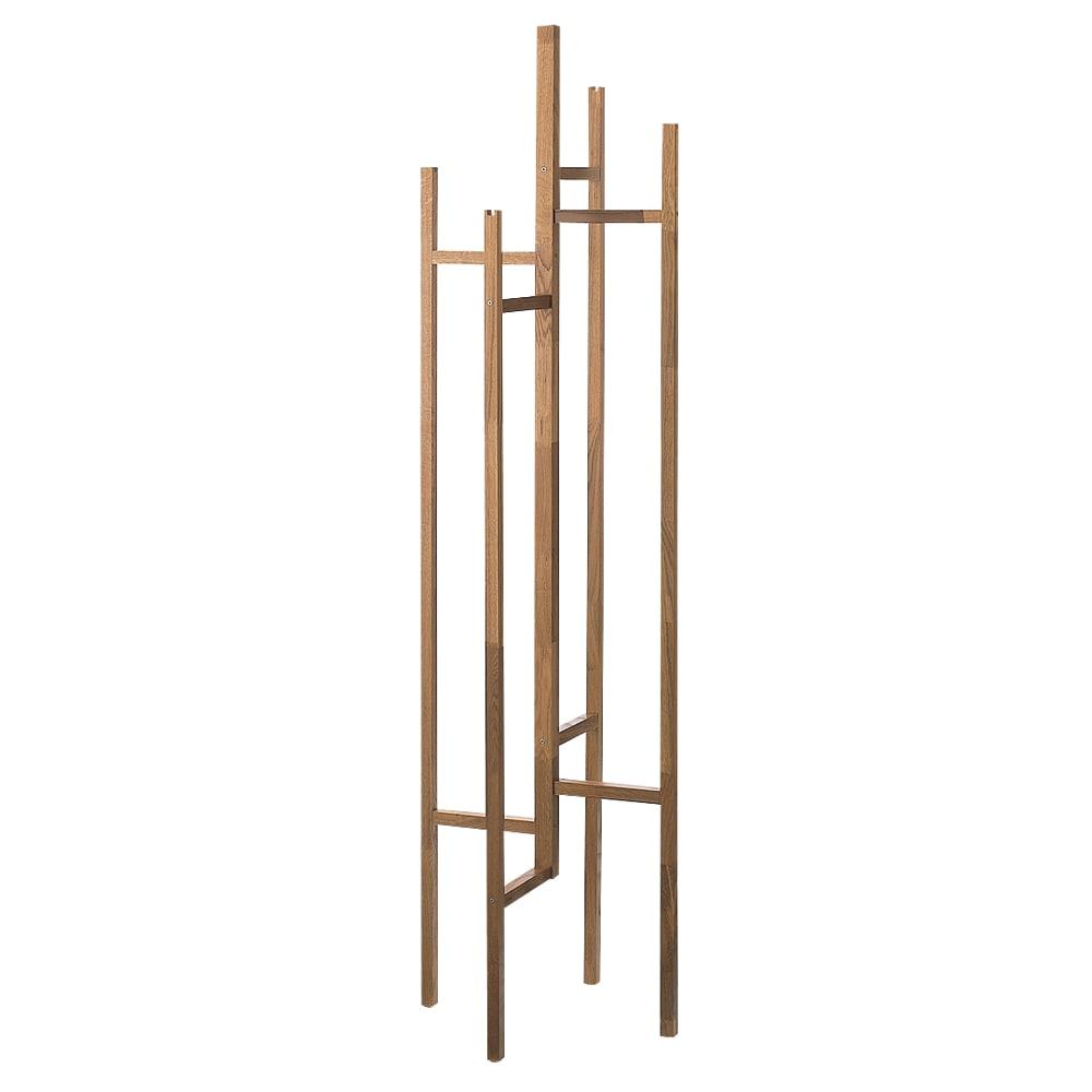 オーク天然木 コートスタンド [WOODMAN・ウッドマン] 機能的なヨーロピアンデザインのコートスタンド。