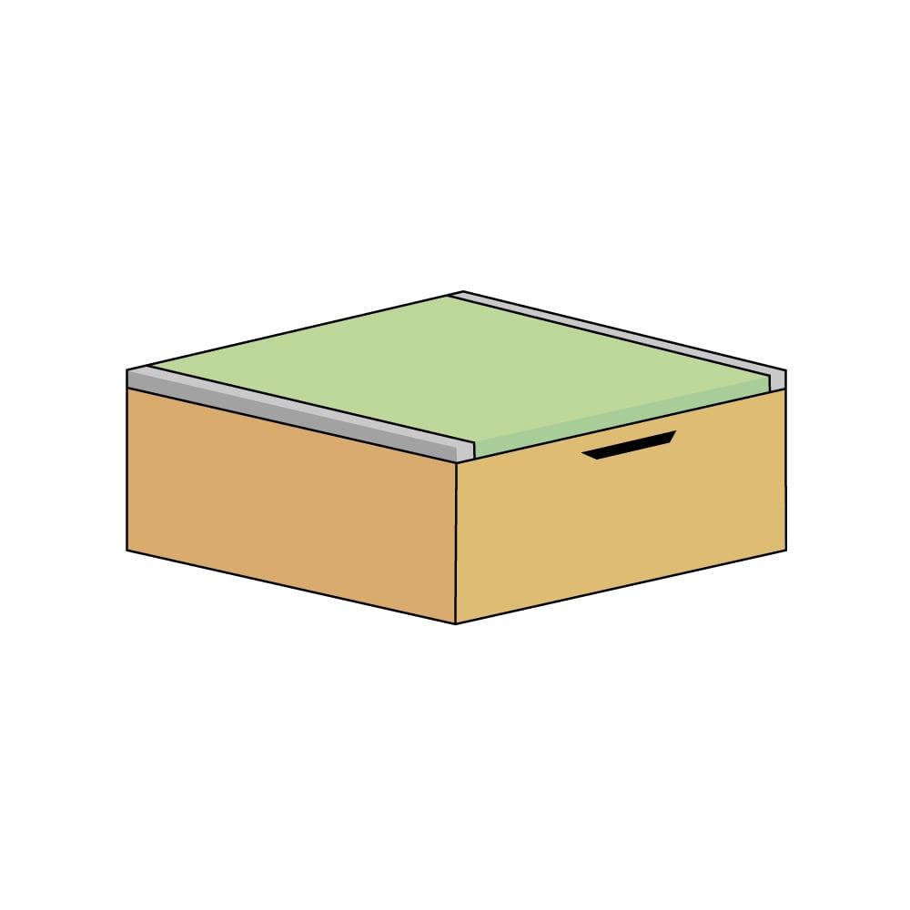 美草跳ね上げ式ユニット畳 畳単品 高さ33cm 半畳 (エ)本体ナチュラル×畳ライトグリーン