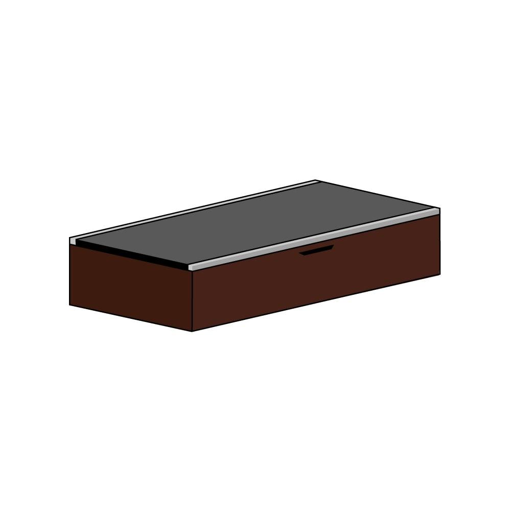 美草跳ね上げ式ユニット畳 畳単品 高さ33cm 1畳 (ア)本体ダークブラウン×畳ブラック