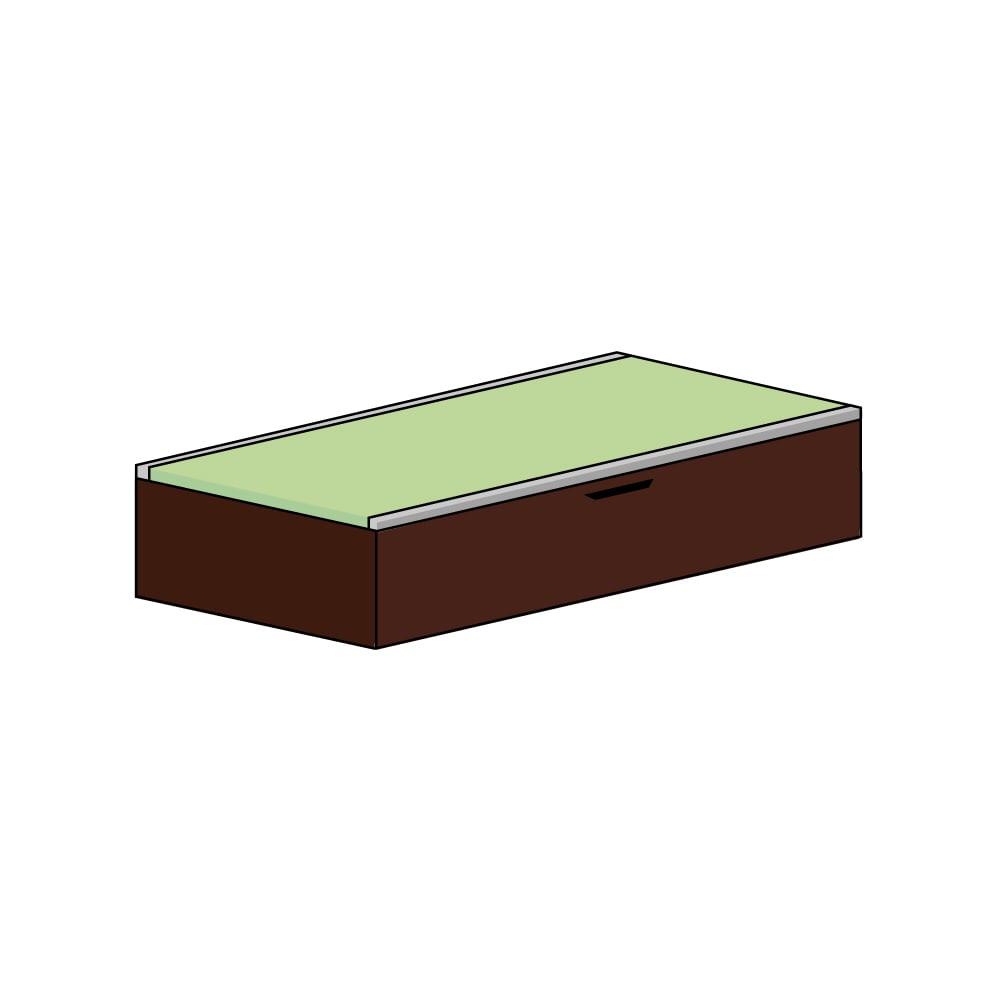 美草跳ね上げ式ユニット畳 畳単品 高さ33cm 1畳 (イ)本体ダークブラウン×畳ライトグリーン