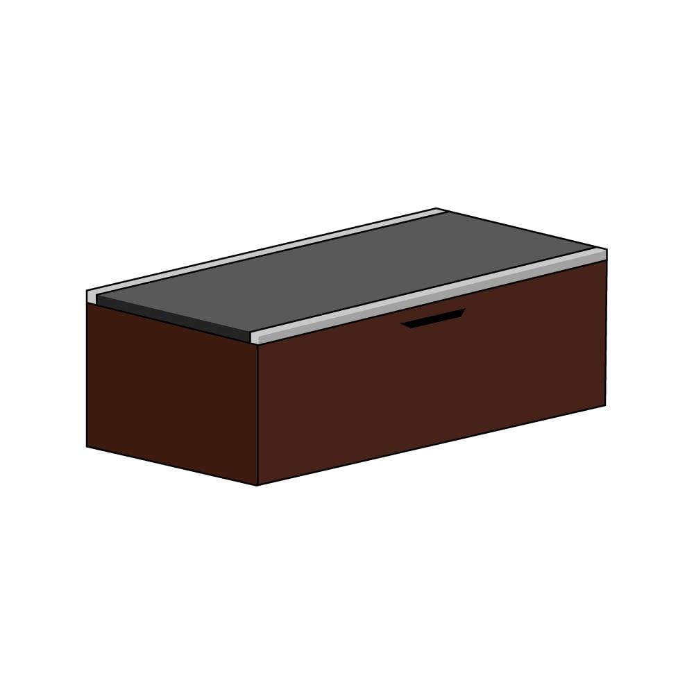 美草跳ね上げ式ユニット畳 畳単品 高さ45cm 大容量 ミニ1畳 大容量 (ア)本体ダークブラウン×畳ブラック