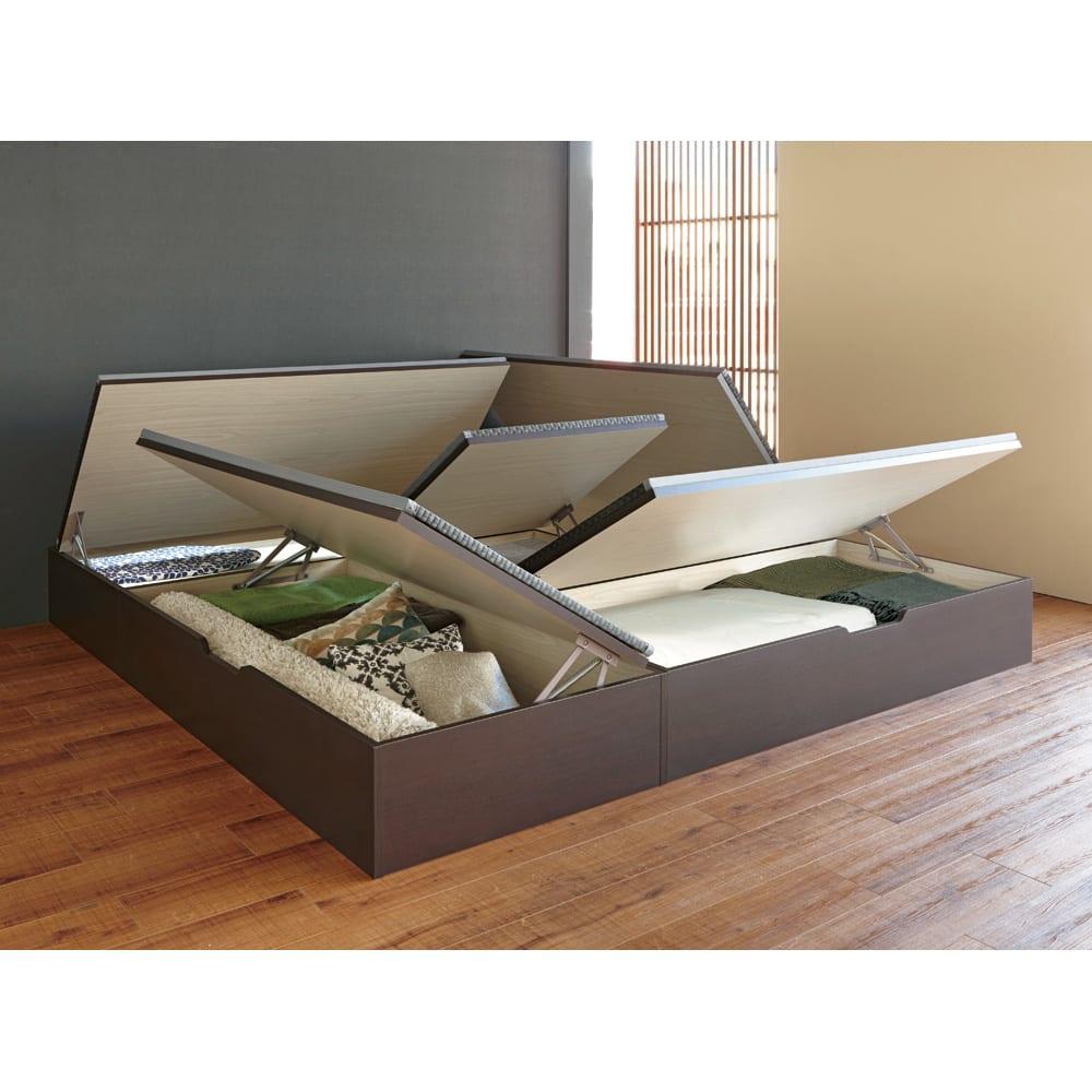 美草跳ね上げ式ユニット畳 畳単品 高さ45cm 大容量 ミニ1畳 大容量 オープン時(高さ33cmタイプ )※お届けは高さ45cmタイプです。