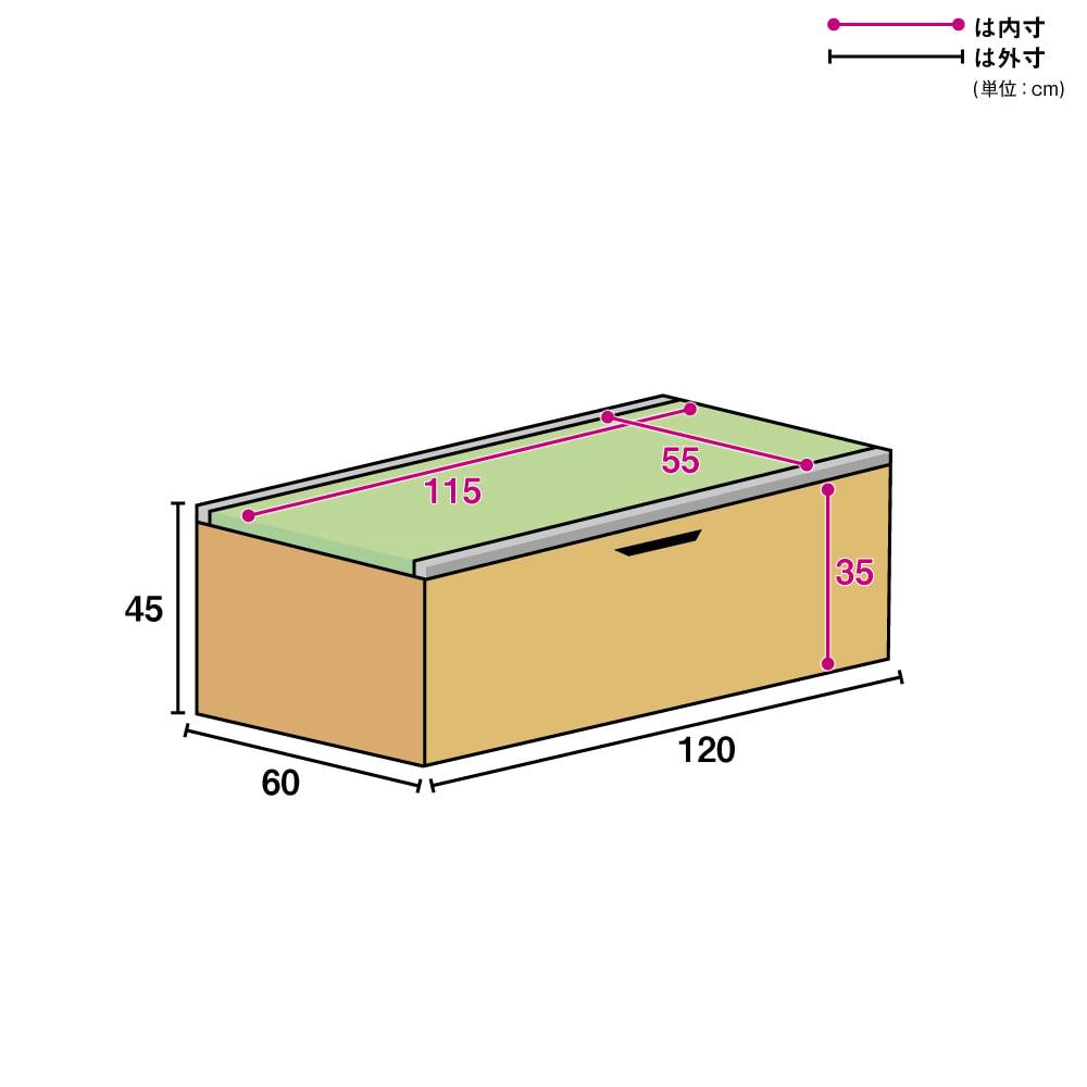美草跳ね上げ式ユニット畳 畳単品 高さ45cm 大容量 ミニ1畳 大容量