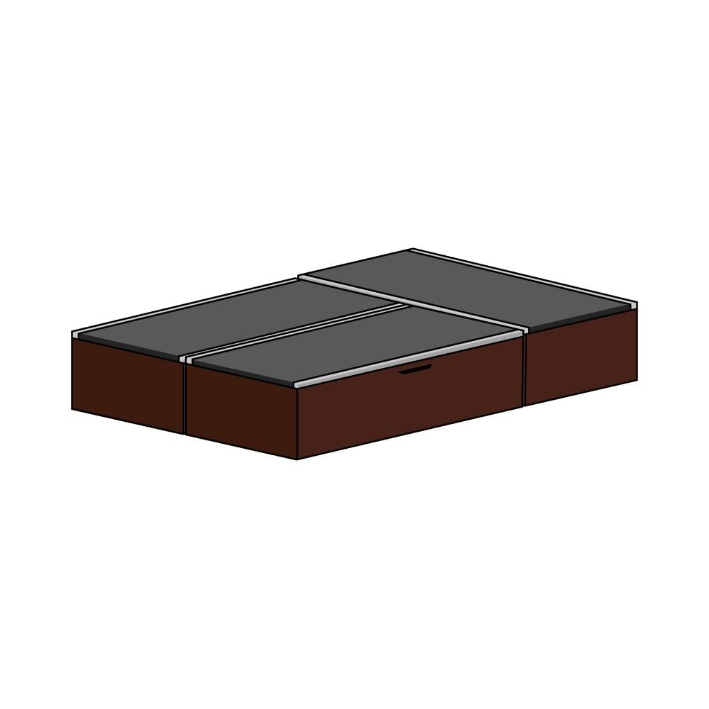 美草跳ね上げ式ユニット畳 お得なセット 高さ33cm ミニ3畳セット (ア)本体ダークブラウン×畳ブラック