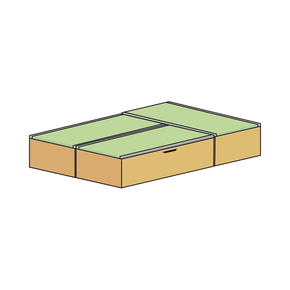 美草跳ね上げ式ユニット畳 お得なセット 高さ33cm ミニ3畳セット (エ)本体ナチュラル×畳ライトグリーン