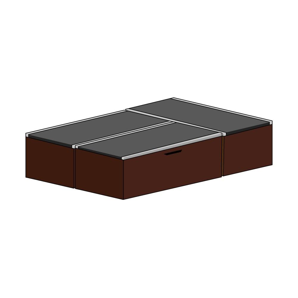 美草跳ね上げ式ユニット畳 お得なセット 高さ45cm 大容量 ミニ3畳セット 大容量 (ア)本体ダークブラウン×畳ブラック