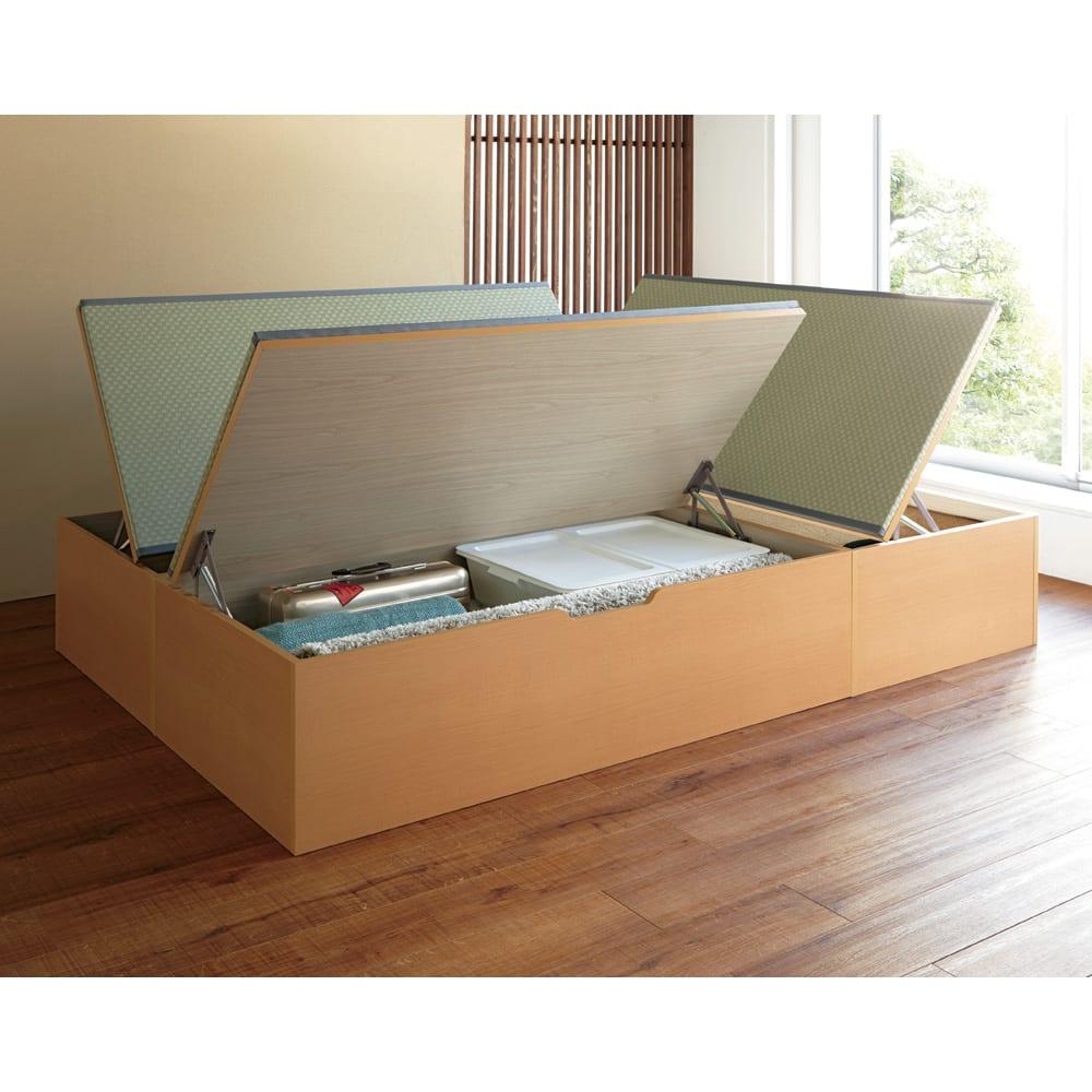 美草跳ね上げ式ユニット畳 お得なセット 高さ45cm 大容量 ミニ3畳セット 大容量 オープン時(高さ45cmタイプ)