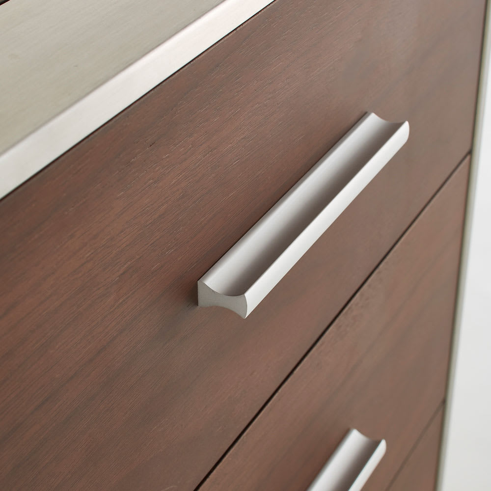 Glan Plus/グラン プラス デスクシリーズ キャビネットチェスト 幅40cm モダンなステンレスの取っ手がデザインのアクセント