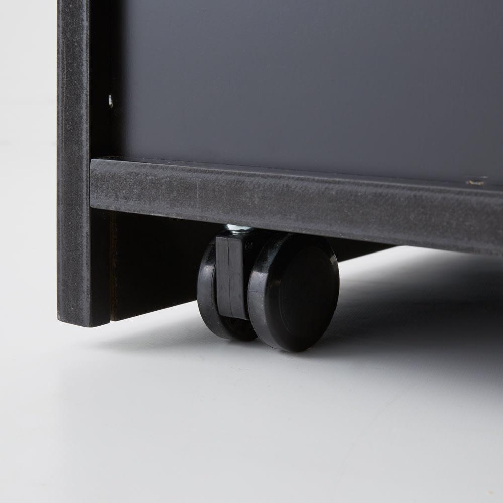 Brook(ブルック) ウッドデスクシリーズ プリンターカート デザインを重視した隠しキャスター付きで移動も可能。
