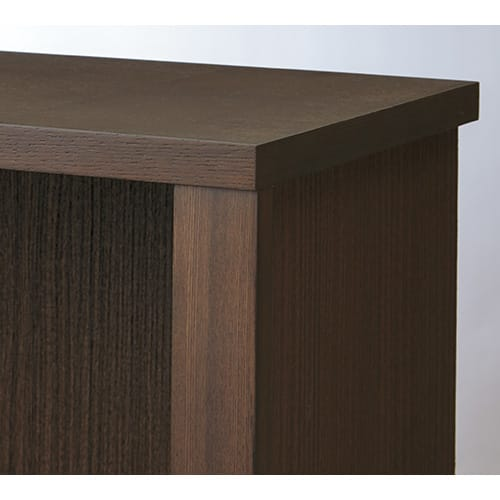 Chasse(シャッセ) ブックシェルフ 幅82奥行30高さ90.5cm ダークブラウン:天然木フレームの高級感あるたたずまい。