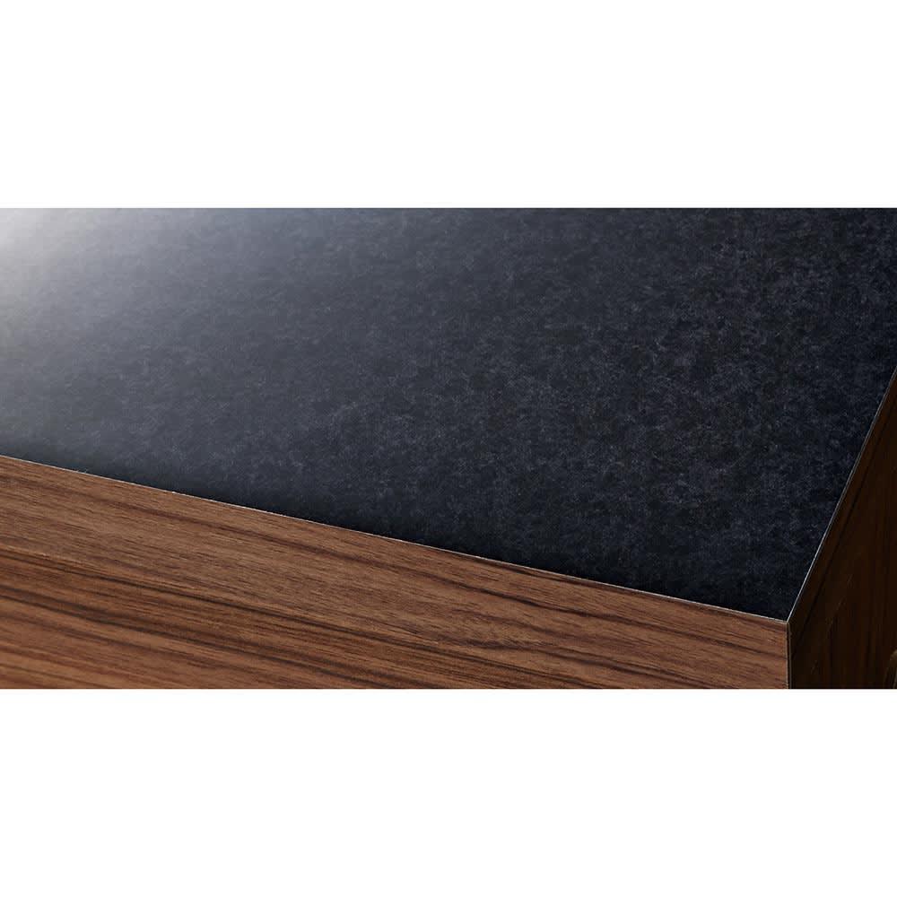 Granite/グラニト デスクシリーズ  デスク幅119cm 天板は高級感ある黒御影石調のメラミン素材。