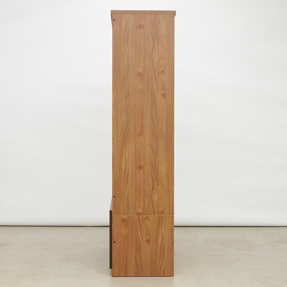 K'astani/カスターニ LEDライト付きバイカラーコレクション本棚 幅117.5cm