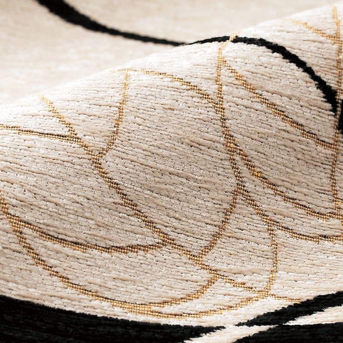 イタリア製 Camelia/カメリア ゴブラン織ラグ 円形 約径175cm [生地アップ]光沢感のあるシェニール糸をゴブラン織。
