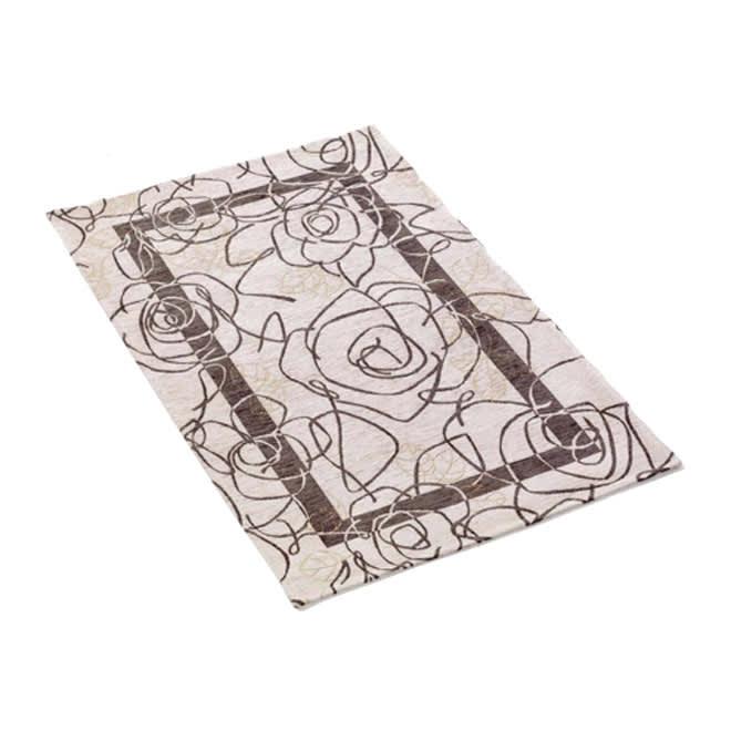 イタリア製 Camelia カメリア ゴブラン織キッチンマット [色見本]アイボリーグレー※写真は約140×200cmのラグ