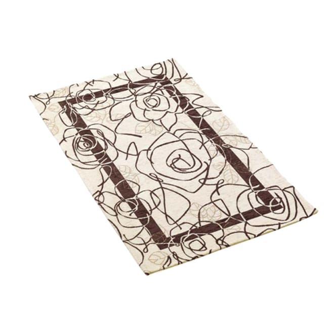 イタリア製 Camelia カメリア ゴブラン織キッチンマット [色見本]アイボリーブラウン※写真は約140×200cmのラグ