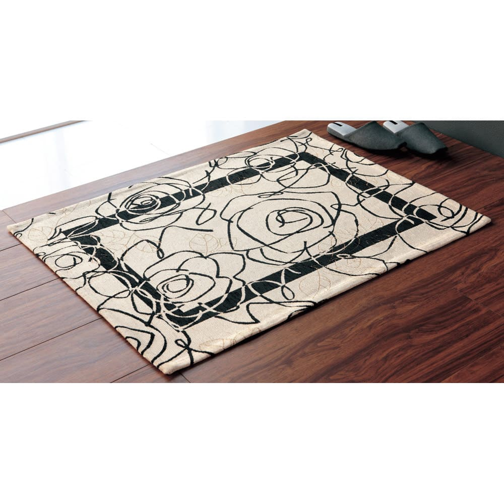 イタリア製 Camelia/カメリア ゴブラン織マット約80×180・240cm(2サイズ) [色見本]アイボリー