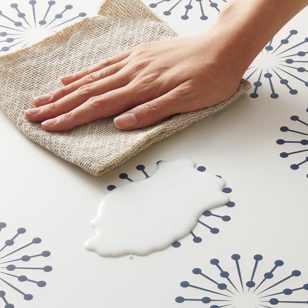 塩ビキッチンマット Fluff/フラー サッと拭くだけのお手入簡単な塩ビ素材