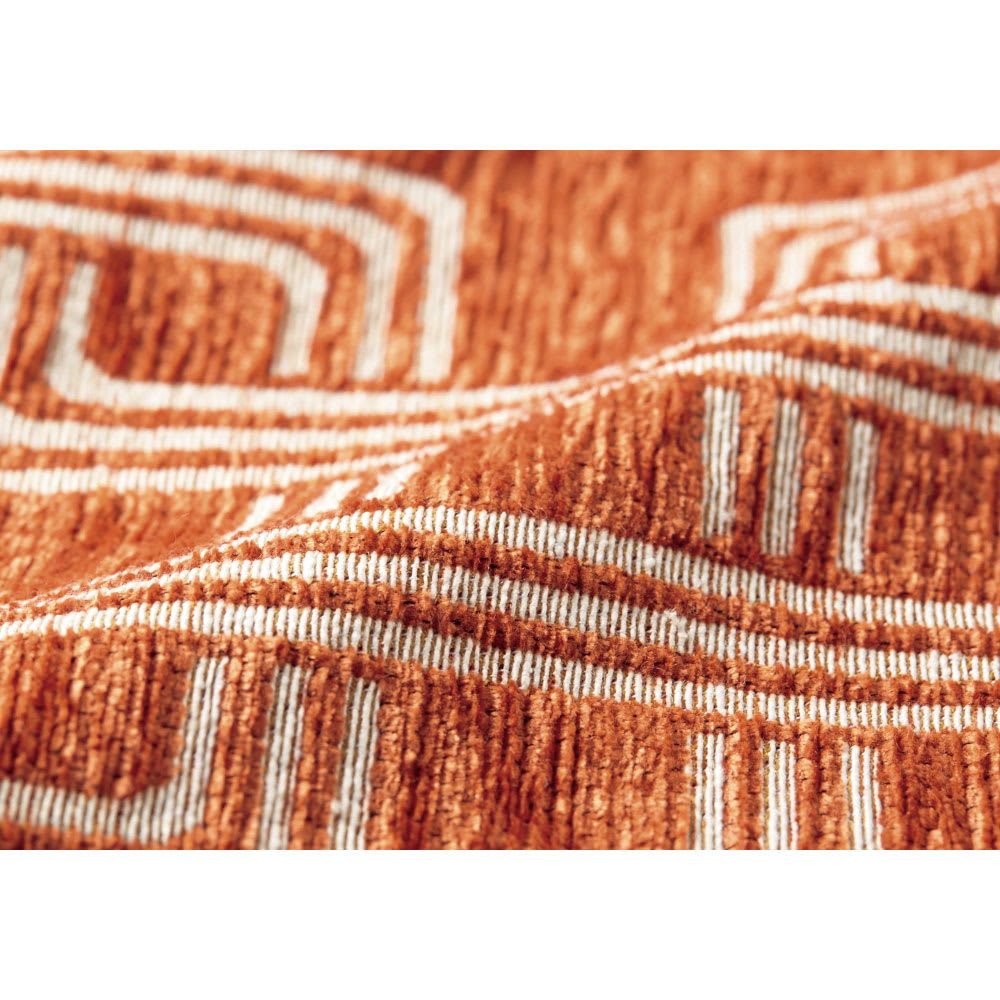 イタリア製マルチクロス[リタ] ソファカバー オレンジ シェニールと綿混の糸で織り上げた、心地よい肌触りの生地。