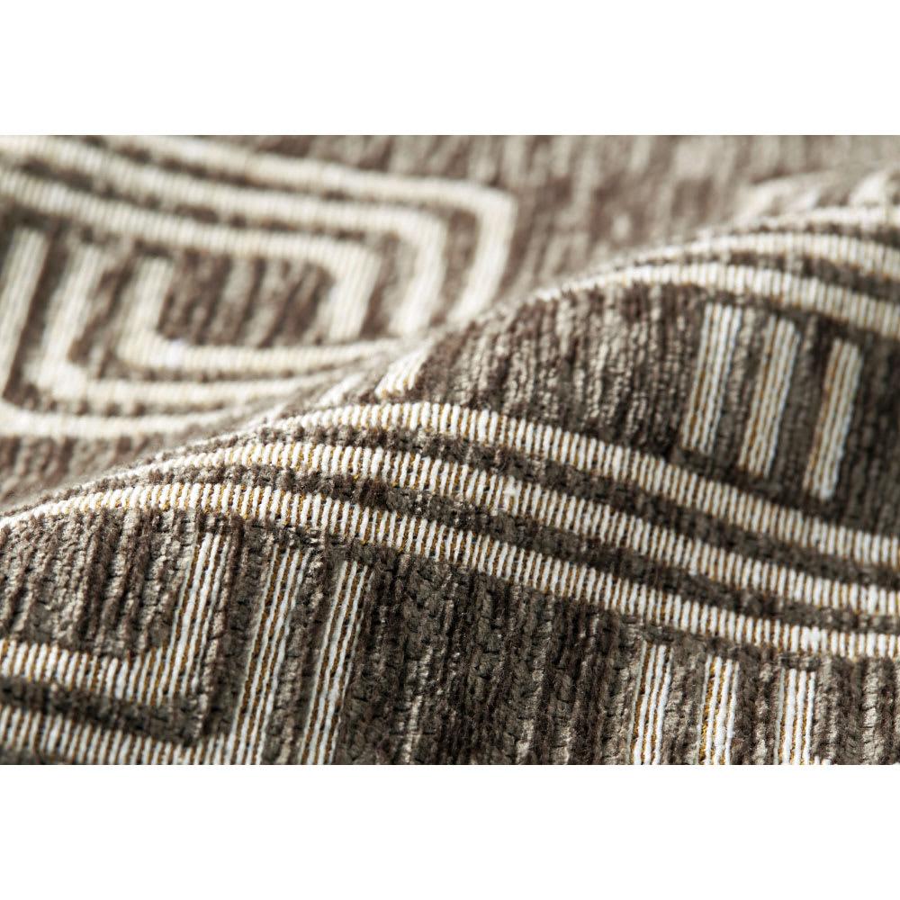 イタリア製マルチクロス Rita/リタ キッチンマット約65×120・180・240cm(3サイズ) [素材アップ]グレイッシュブラウン シュニールと綿混の糸で織り上げた、心地よい肌触りの生地。