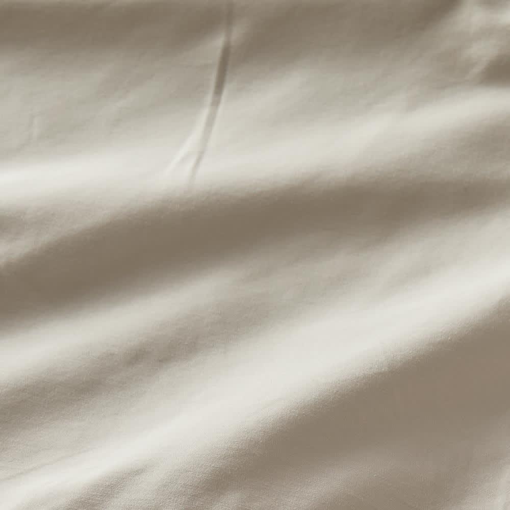 ホテル仕様超長綿サテンカバーリング Ciel/シエル マルチシーツ(フラットシーツ) グレージュ 生地アップ