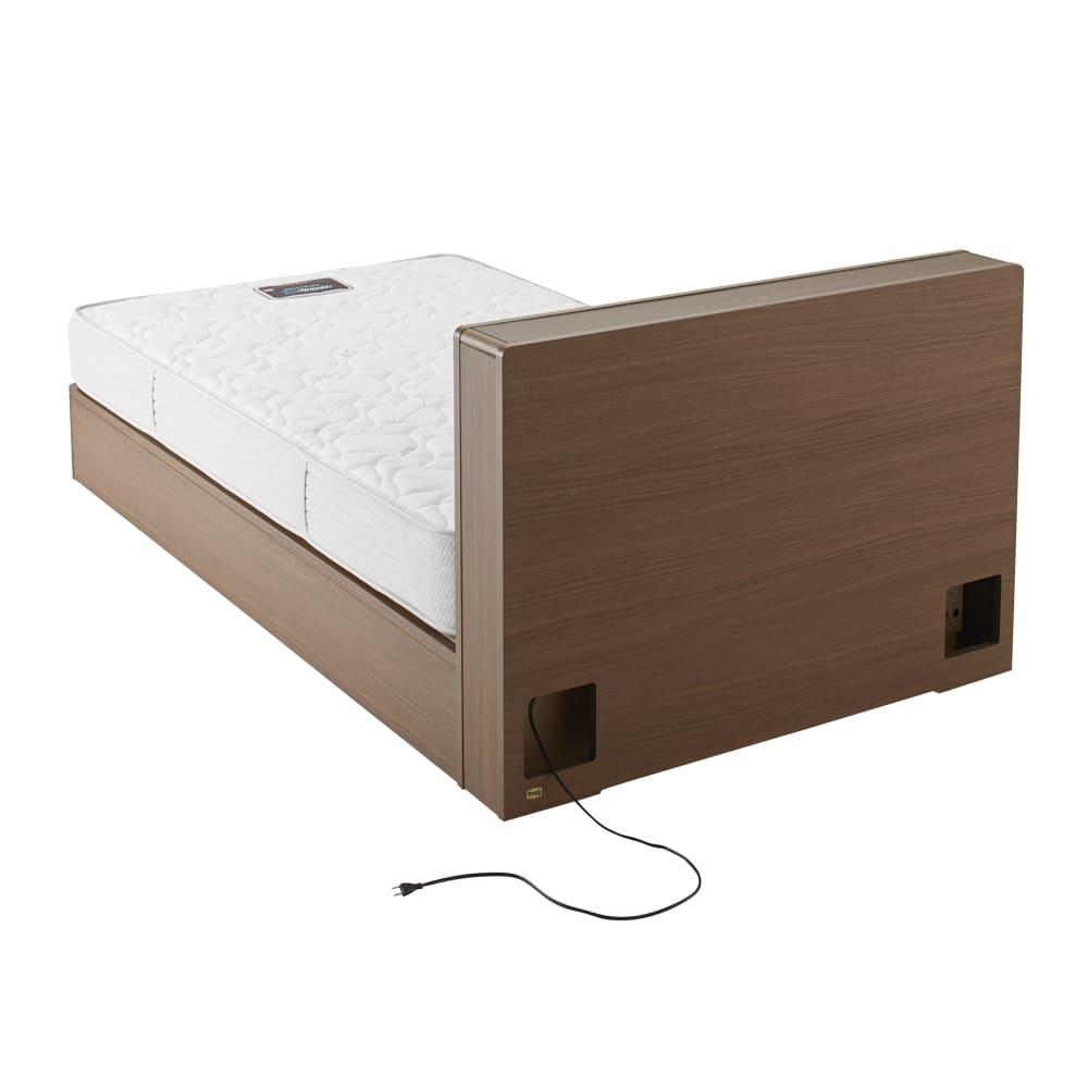 【配送料金込み 組立・設置サービス付き】SIMMONS(シモンズ) LED照明付き引き出しベッド 6.5インチポケットマットレス付 背面も丁寧に化粧されています。