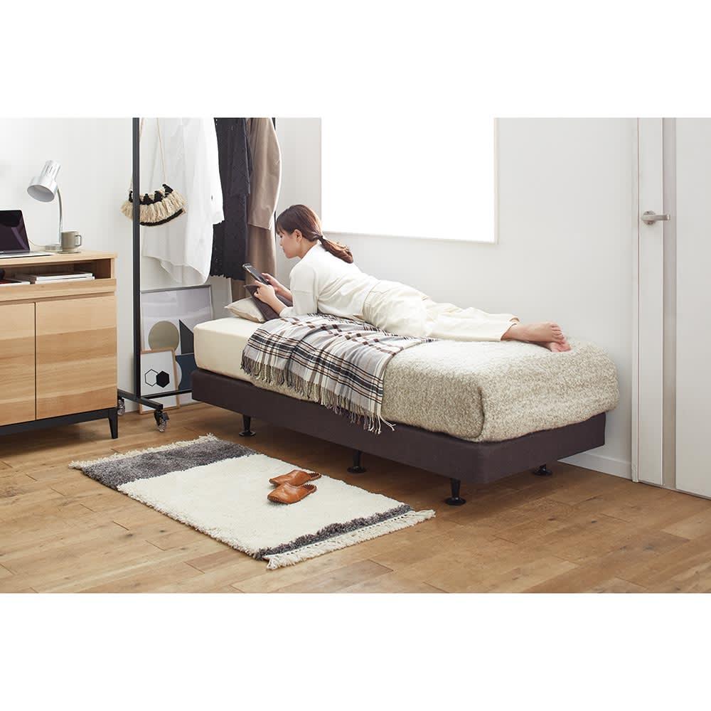 SIMMONS×HOUSE STYLING/シモンズ ショート丈・脚長ダブルクッションベッド 6.5インチマットレス 小さめでも寝心地はリッチ ※写真はセミシングル 5.5インチマットレス
