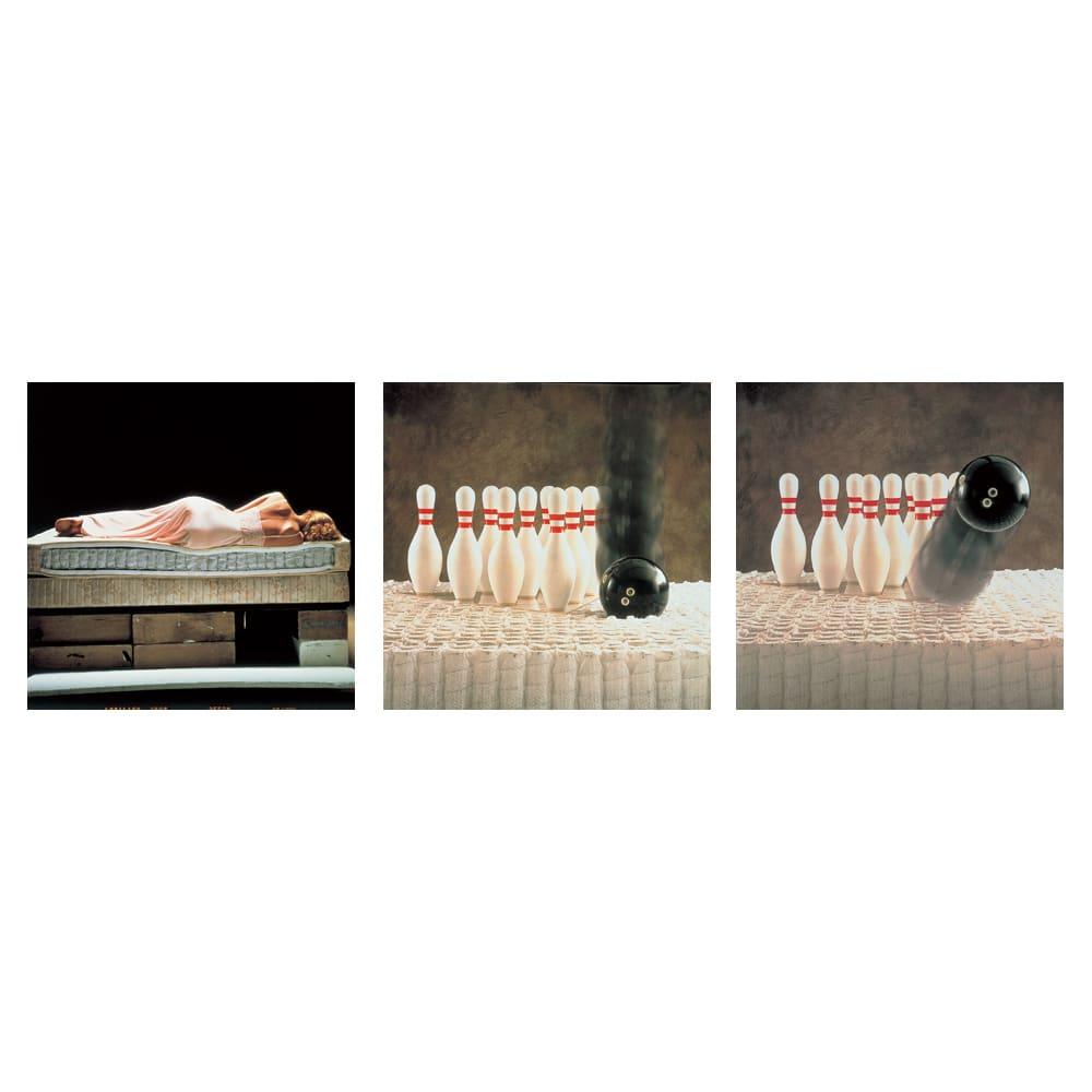 SIMMONS/シモンズ 6.5インチポケットコイルマットレス ゴールデンバリュー 睡眠中のあらゆる動きに添う「ビューティレスト」。特殊な不織布の袋にコイルスプリングをひとつひとつ包み、並行配列させたポケットコイル構造。