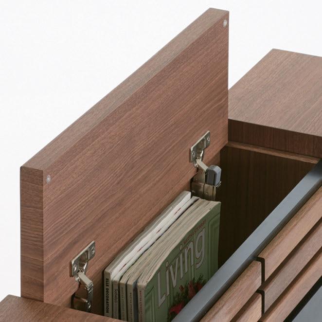 AlusStyle/アルススタイル ベッドシリーズ 圧縮ポケットコイルマットレス付き ヘッドボードには本や雑誌が収まる収納付き。ベッドに横になったまま使えて便利です。