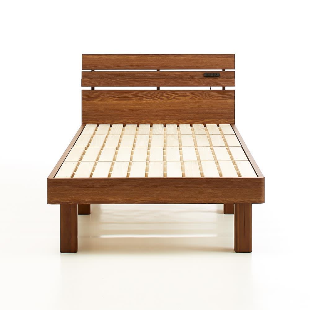 天然木調・頑丈すのこベッド ベッドフレームのみ