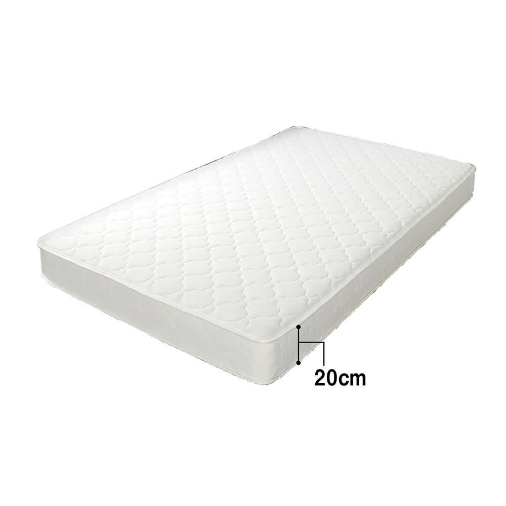 天然木調・頑丈すのこベッド 圧縮ポケットコイルマットレス