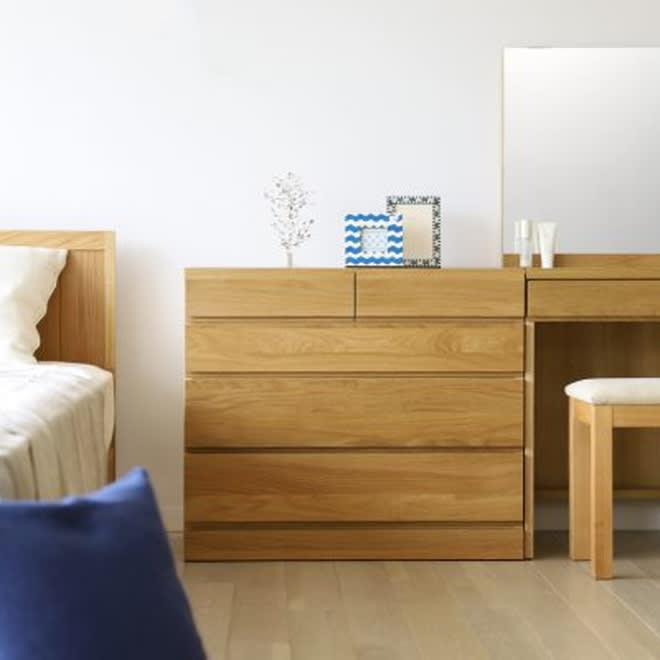家具 収納 衣類収納 タンス チェスト 天然木 スライドワードローブ サイドチェスト H91106