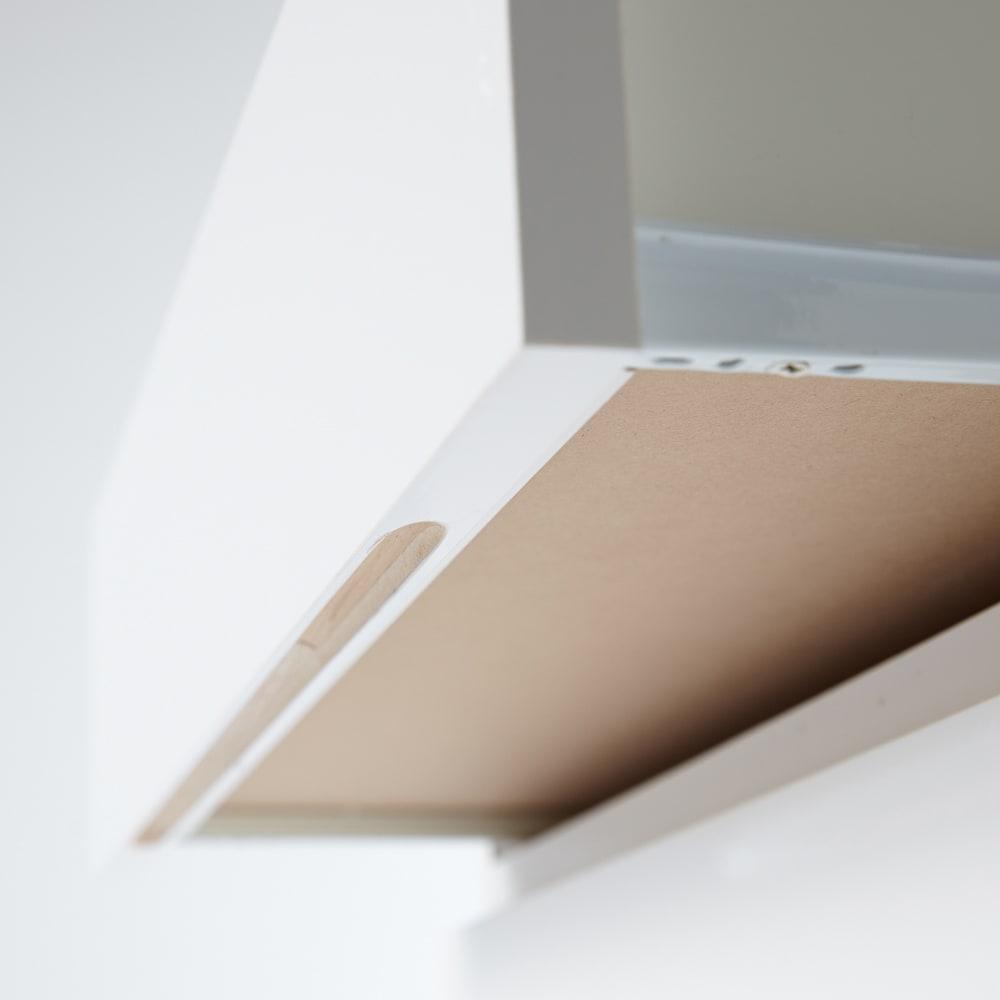 Milath/ミラススライドワードローブ専用オプション インナーチェスト 引き出し下部に手掛けを設け、シンプルなデザインながら開けやすく。