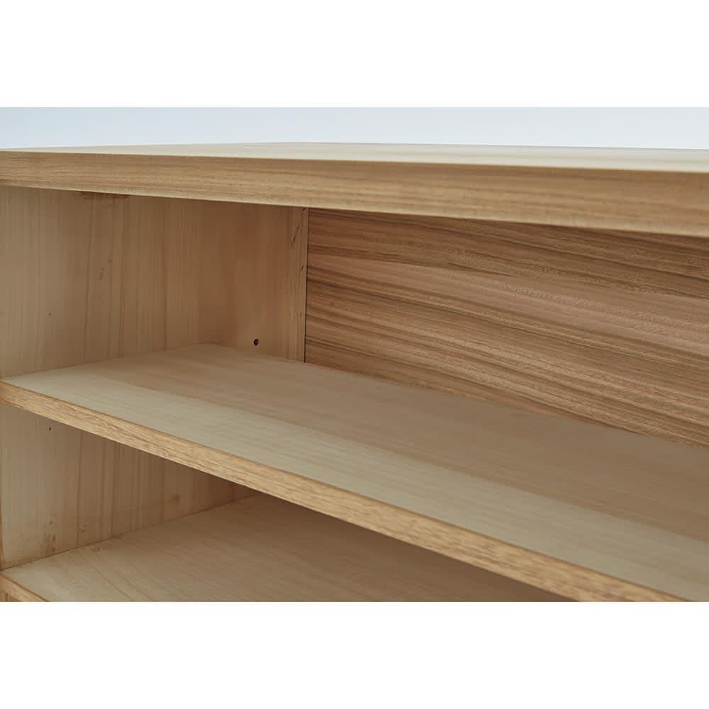 Sarasa/サラサ桐チェスト 幅100cm・2段(高さ71.5cm) 本体内部に楠材を使用。桐材との併用で防虫効果を高めました。