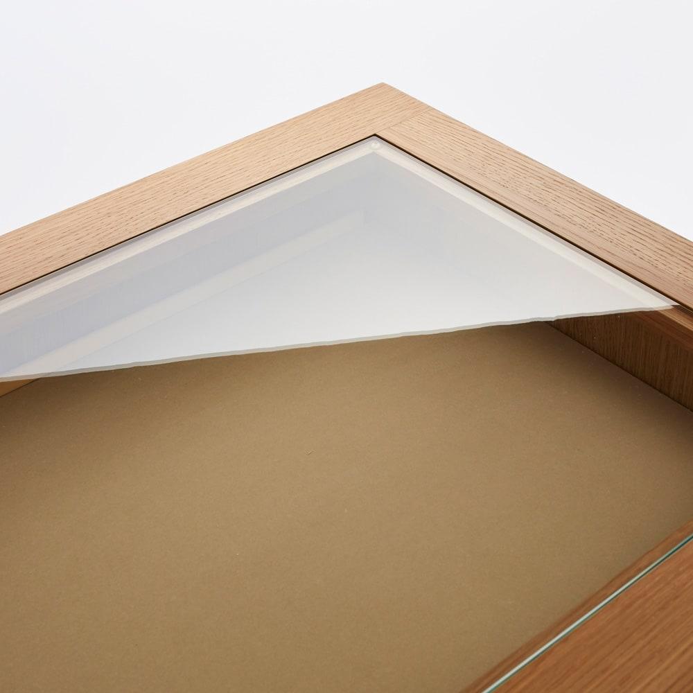 北欧ジュエリー収納付チェスト ロータイプ 幅80cm・4段(高さ89cm) 天板がガラス張りになっているのでアクセサリーをディスプレイとして美しく飾れます。