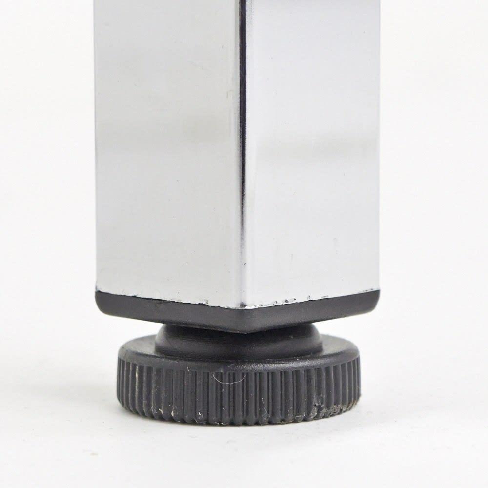 Shinevarie(シャインバリエ) クローゼットハンガーラック 幅120cm~200cm対応 脚部はアジャスター付き。歪んだ床にも対応が可能です。