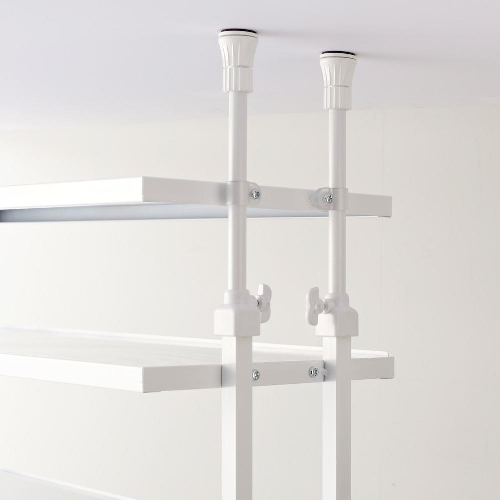 Struty(ストラティ) ラックシリーズ ハンガー2本&棚3段・幅100cm